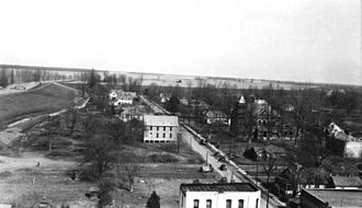 Friars Point, Mississippi - Looking north, c. 1900