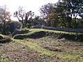View south-eastwards across the inside of the fortifications at Aberlleiniog - geograph.org.uk - 1542605.jpg