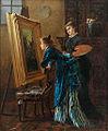 Vilhelm Jacob Rosenstand Malerin und Kunstinteressierte.jpg