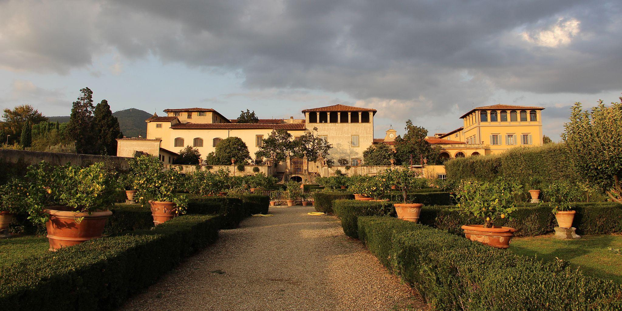 Villa la quiete, veduta dal giardino 01