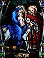 Villeréal - Église Notre-Dame - Vitrail de la vie de Joseph -3.jpg