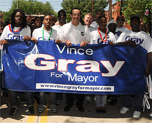 Vincent C. Gray - Gray at the Nannie Helen Burroughs Day Parade on May 08 2010.