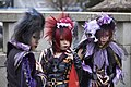 Visual kei fans at Jingu Bashi