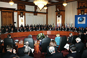 NATO–Russia relations - Meeting of the NATO–Russia council in Bucharest, Romania on 4 April 2008