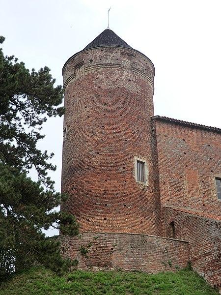 Vue de la tour de l'ensemble castral du Montellier.