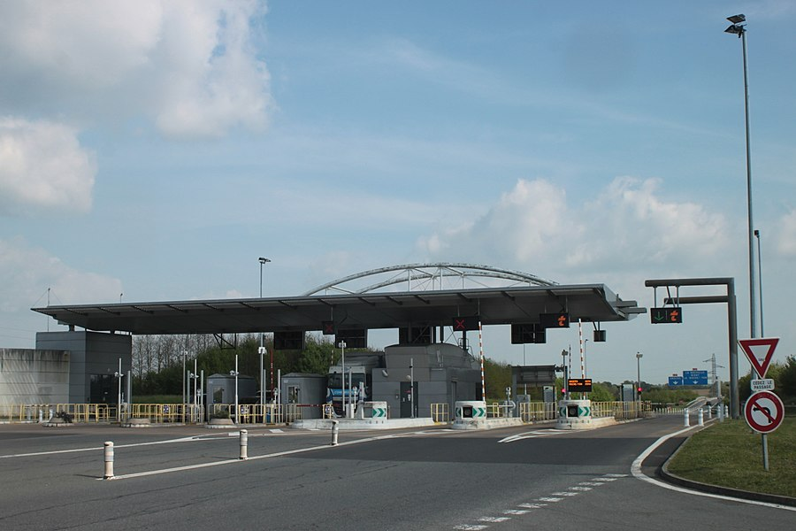 Péage Cholet-sud, A87, Fr-49-Cholet.