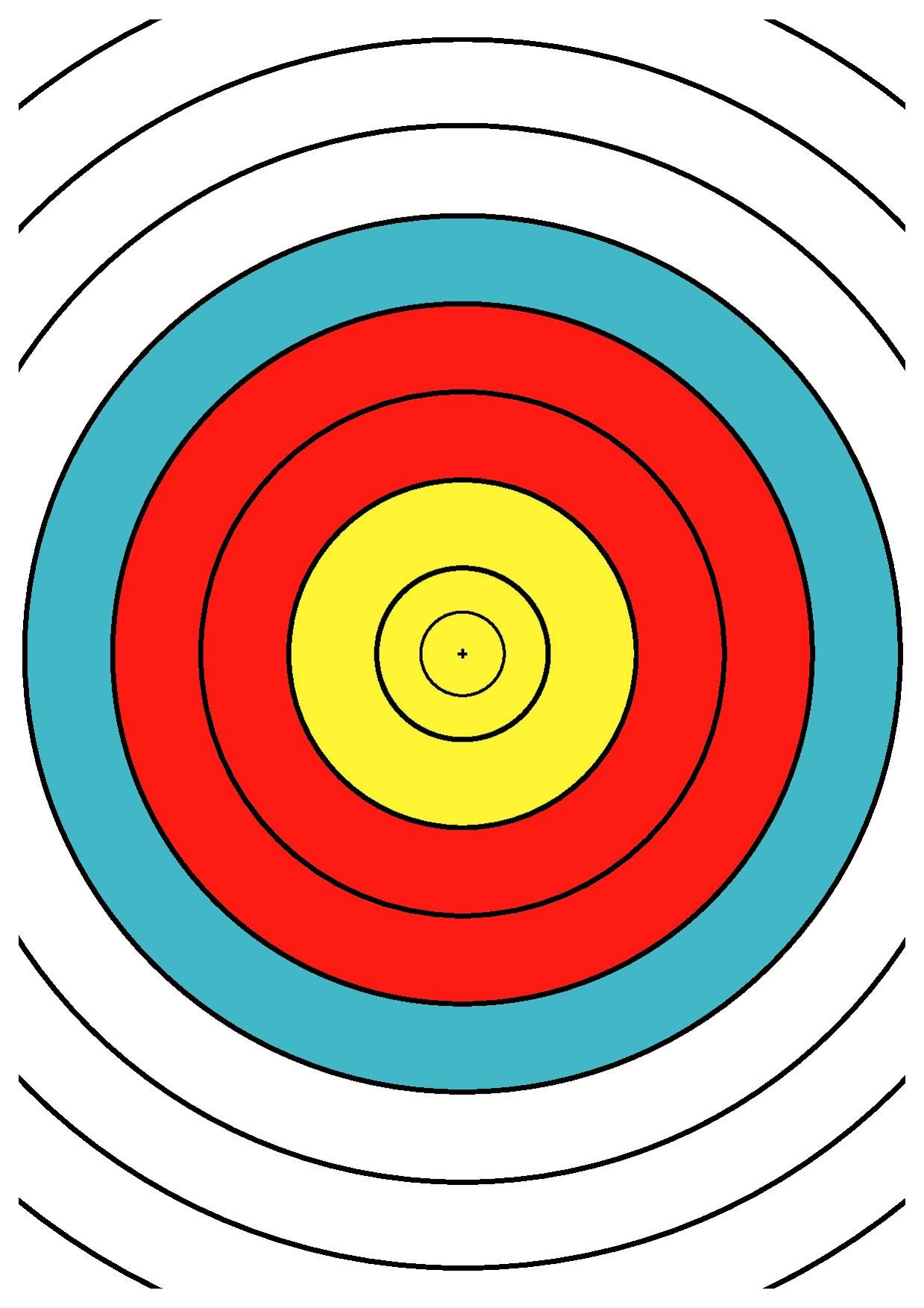 image relating to Printable Archery Targets called History:WA 40 cm archery emphasis middle drawing DINA4.pdf