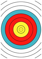 File Wa 40 Cm Archery Target Center Drawing Dina4 Pdf Wikimedia Commons