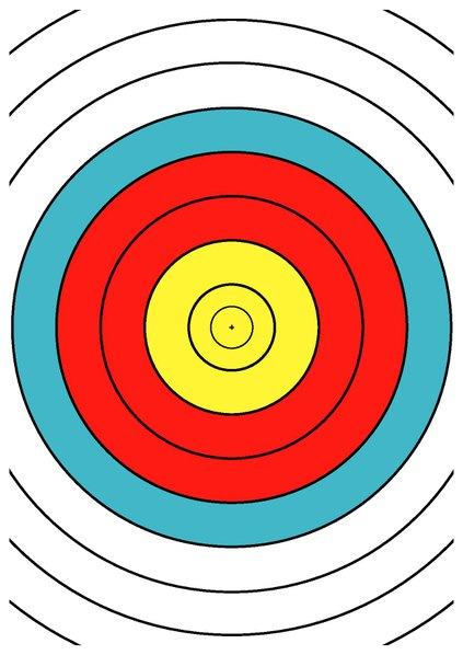 photo relating to Printable Archery Targets titled Report:WA 40 cm archery focus centre drawing DINA4.pdf