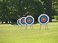 WA Archery targets at Reading University, England-22 May 2010.jpg