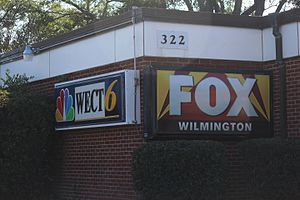 WSFX-TV - The WECT and WSFX shared studio in Wilmington, North Carolina