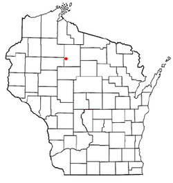 Location of Georgetown, Price County, Wisconsin