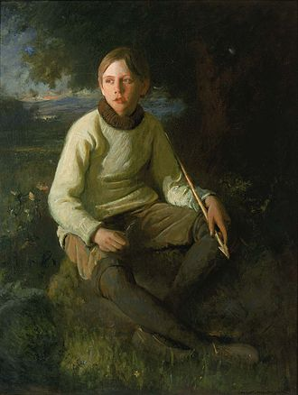 Douglas Volk - The Boy with the Arrow (Portrait of the Artist's Son) (1903), Smithsonian American Art Museum.