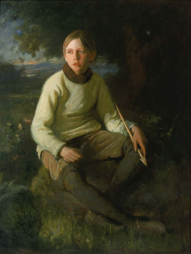 Douglas Volk — The Boy with the Arrow (Portrait of the Artist's Son) (1903), Smithsonian American Art Museum.