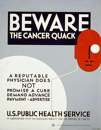 Quackery - WPA poster, 1936–38