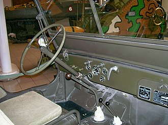 Jeep - Dashboard of World War II era jeep