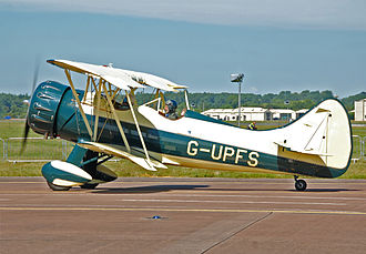 Waco Aircraft Company - Waco UPF-7, built in 1941, arrives at the 2014 Royal International Air Tattoo, England