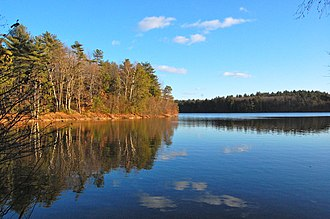 Walden - Walden Pond, discussed extensively in chapter The Ponds
