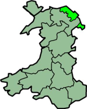 Flintshire (historic) - Image: Wales Flintshire Trad