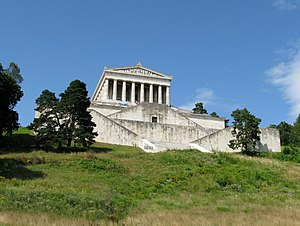 Kingdom of Bavaria - Walhalla memorial of Ludwig I, seen from the Danube