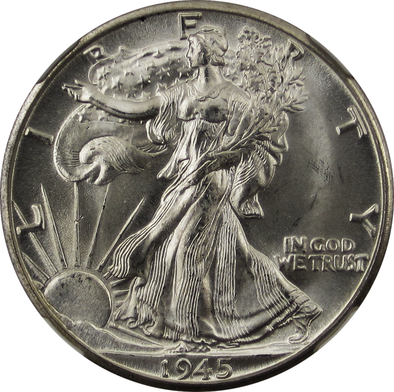 Walking Liberty Half Dollar 1945D Obverse.png