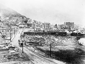 Shoshone County, Idaho - Wallace, Idaho, following the Great Fire of 1910
