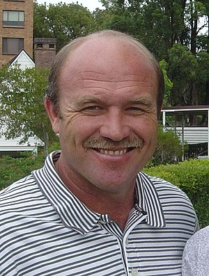 Wally Lewis was voted Australia's greatest ever five-eighth in 2008. Wally Lewis (29 April 2004, Brisbane).jpg