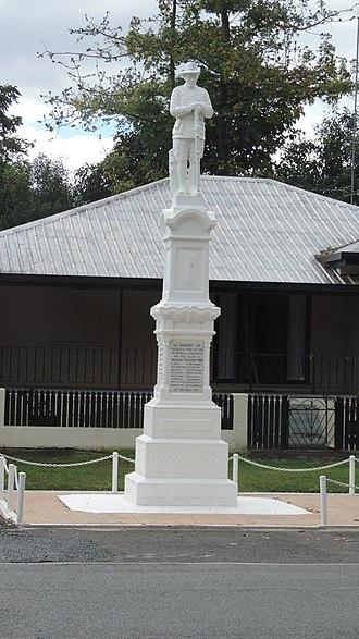 Finch Hatton, Queensland - War memorial, 2016