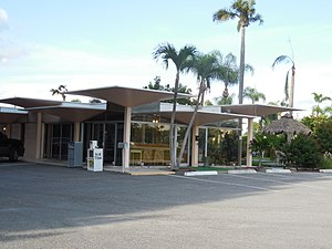 Warm Mineral Springs Motel - Image: Warm Mineral Springs Motel front office view