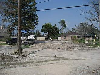 Reconstruction of New Orleans - The same corner, September, 2006
