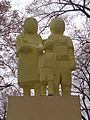 Warszawa-Monument of Poland installation art (polish family).jpg