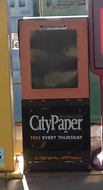 Washington City Paper - An empty Washington City Paper dispenser at Huntington metro station