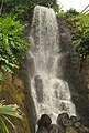 Waterfall in tropical biome, Eden Project.jpg
