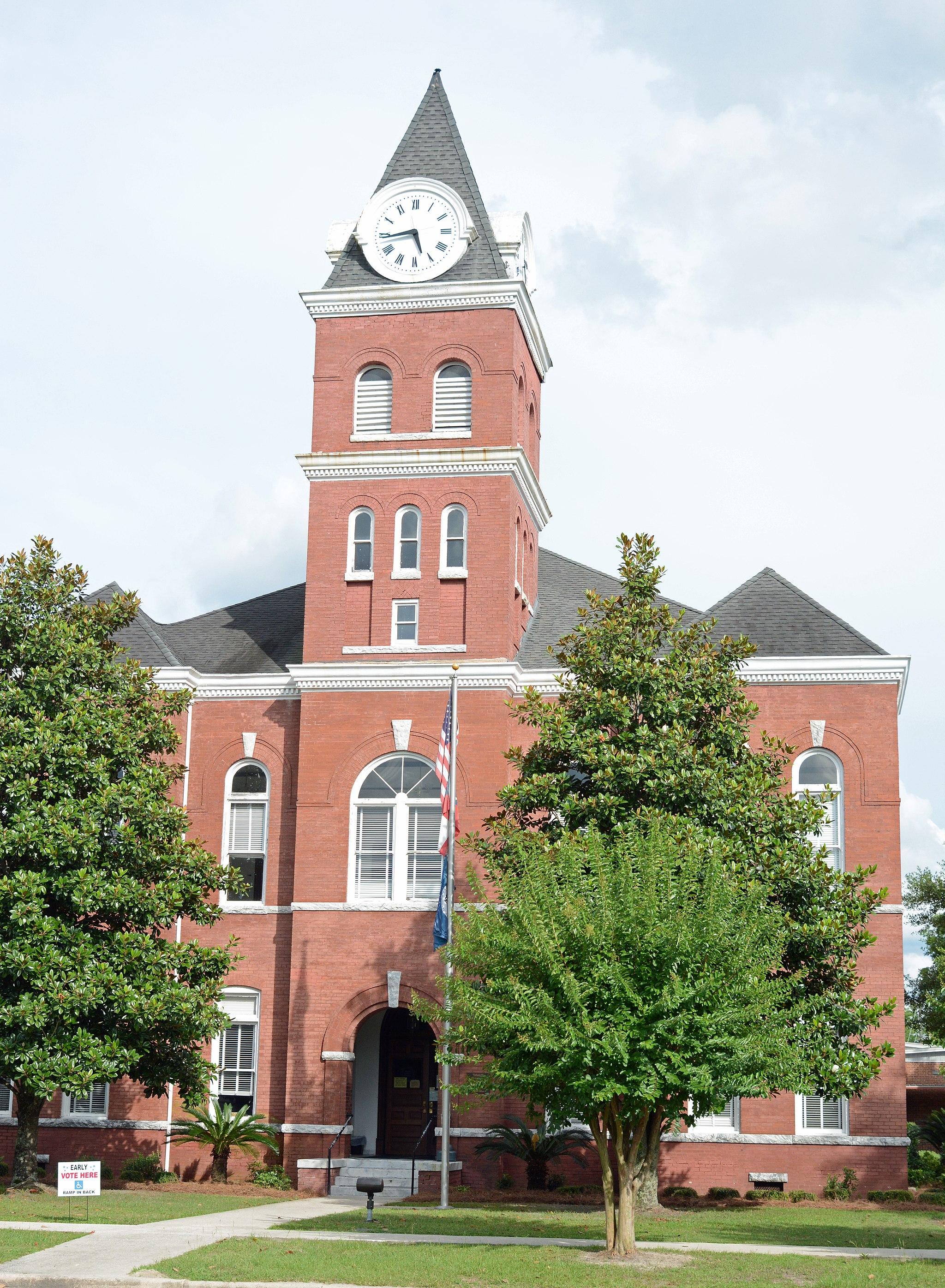 Wayne County Courthouse, Jesup, GA, USA