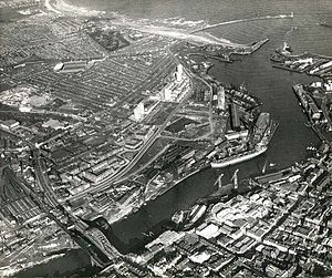Roker Park - Roker park (top left) pictured from above in 1967
