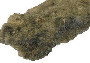 Weberite (greenish grey) in Kryolite - Mineralogisches Museum Bonn2.jpg