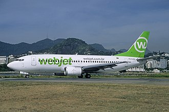 WebJet Linhas Aéreas - Webjet's Boeing 737–300 with modified colors in 2011
