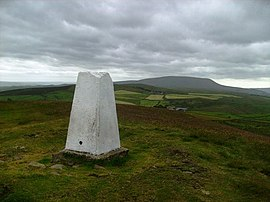 Weets Hill Trig freshly painted - geograph.org.uk - 856913.jpg