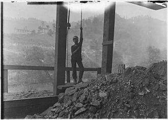 Welch, West Virginia - Child laborer at Welch Mining Company, 1908.  Photo by Lewis Hine.