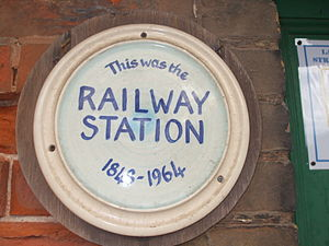 Wells-next-the-Sea railway station - Plaque on station building
