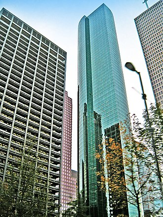 Wells Fargo Plaza (Houston) - Image: Wells Fargo Bank Plaza, Houston, from base