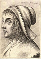 Wenceslas Hollar - Woman with bonnet with serrated edge.jpg