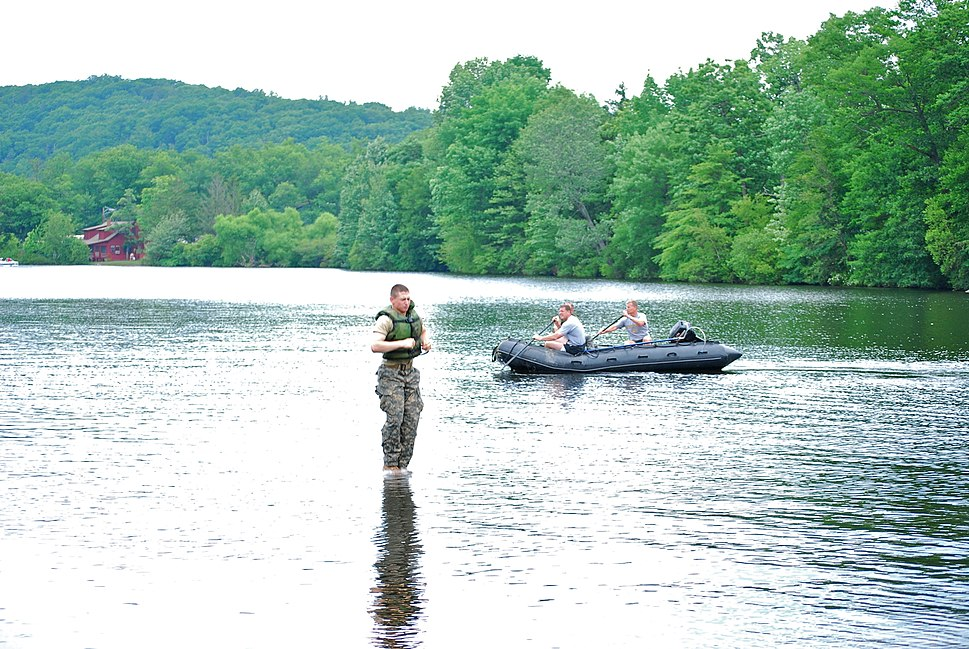 West Point Cadet Walking on Water upon Lake Popolopen July 09