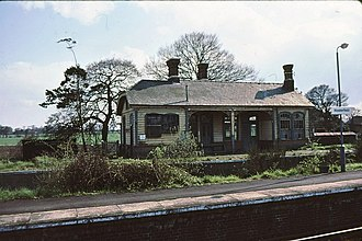 Felixstowe branch line - The Felixstowe Railway building at Westerfield station
