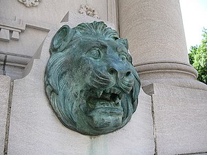 The Fens (Boston, Massachusetts) - A lion's head on the Westland Gate