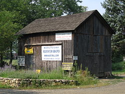 The Onion Barn, where community bulletins are posted