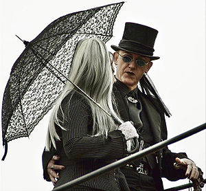 Gothic fashion - A male and female Goth couple
