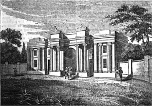 White City, Greater Manchester - A picture of the gateway to the Botanical gardens from 1832