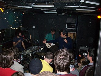 Why? (American band) - Why? performing a live show at Cafe Bourbon Street in Columbus, Ohio in 2008