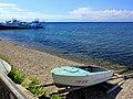Widok na port w Listwiance i jezioro Bajkał.JPG